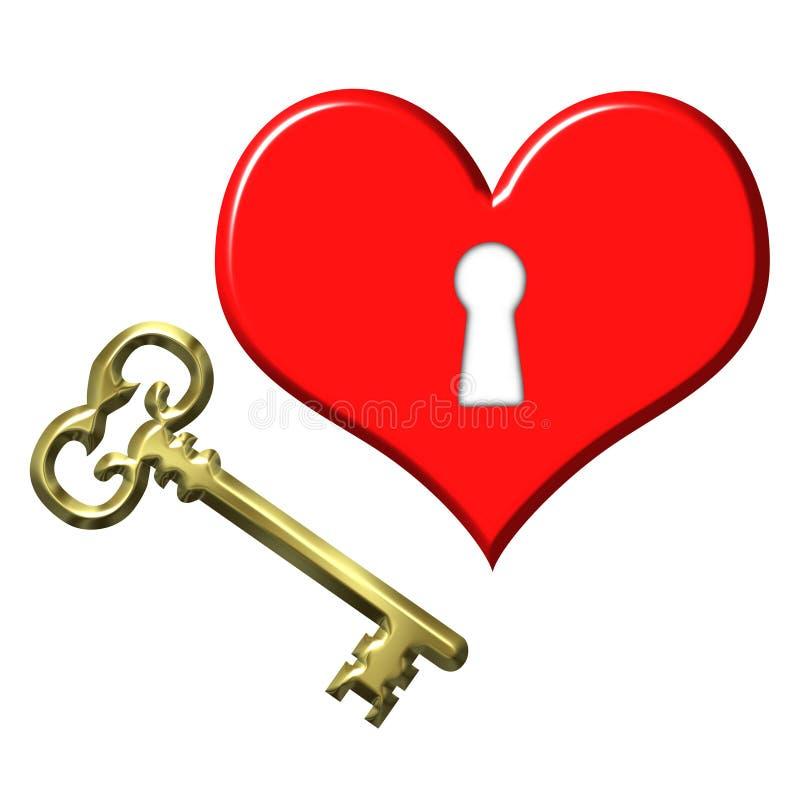 Key to my heart vector illustration