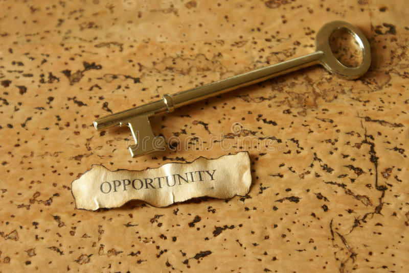 Download Key to Opportunity stock image. Image of written, conceptual - 19916645