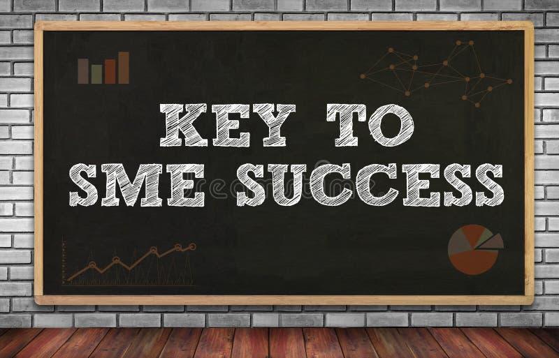 KEY TO SME SUCCESS Small and medium-sized enterprises royalty free stock photo