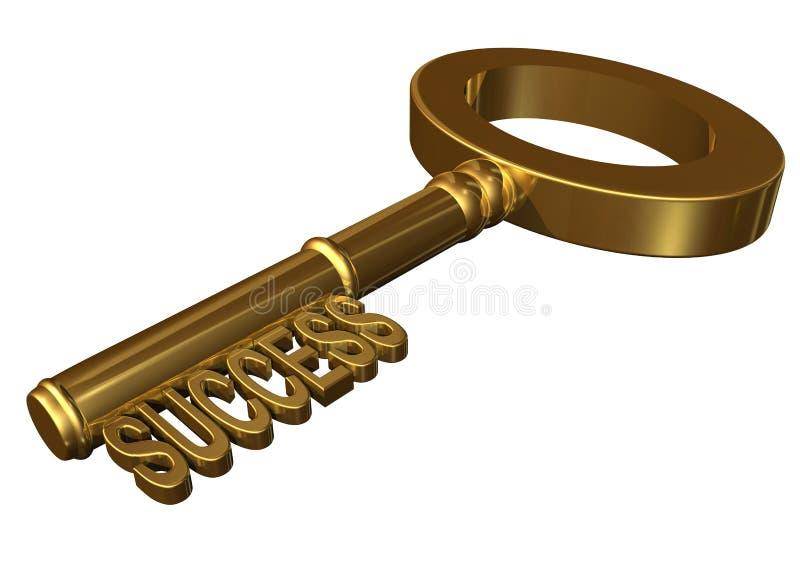 Key to success stock illustration