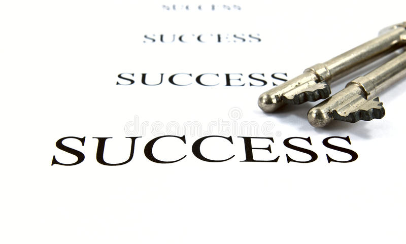 Key to success. Concept background stock photo