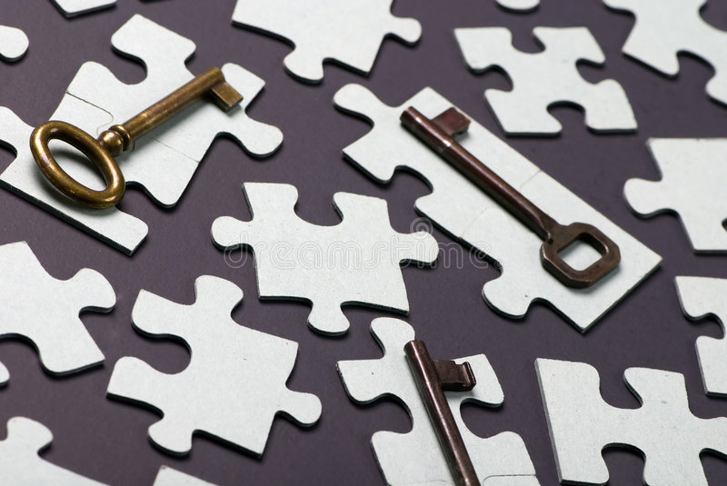 Download Key to Success 3 stock photo. Image of jigsaw, idea, bright - 1525172