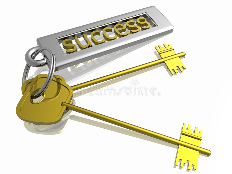 Key to success. Isolated in white background royalty free illustration