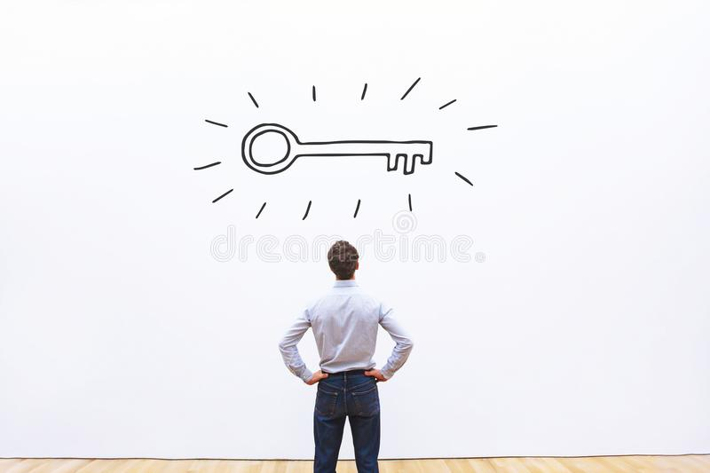Key to success, business opportunity concept stock image