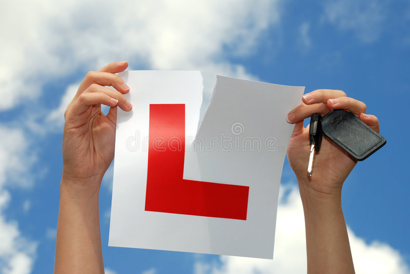 Download Key to success - L Plate stock photo. Image of instruction - 2888208