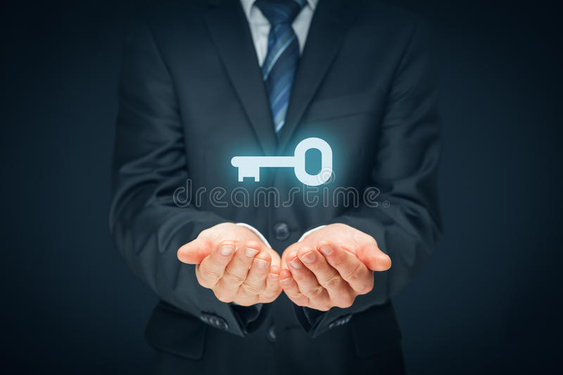 Key to success or solution stock photo