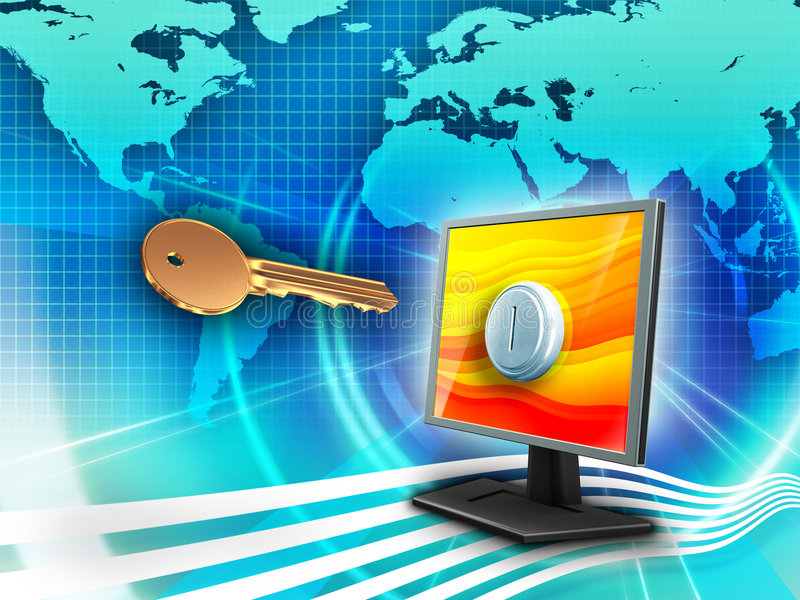 Download Key to the world stock illustration. Image of open, design - 8359676