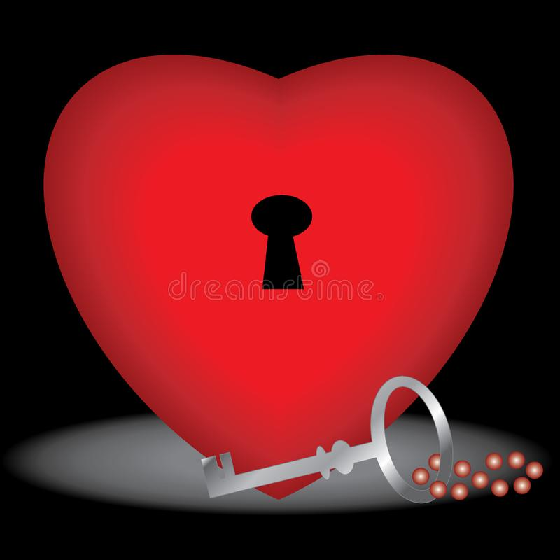 Key to your heart stock images