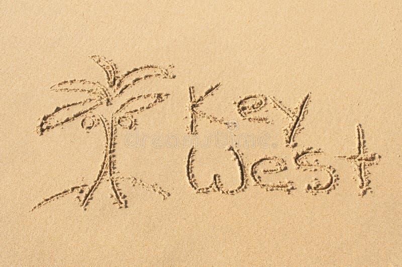 Key West στην άμμο στοκ φωτογραφία με δικαίωμα ελεύθερης χρήσης