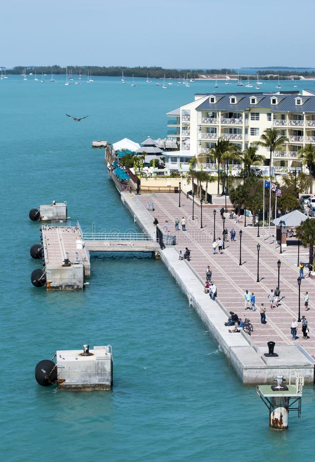 Key West Downtown Empty Pier royalty free stock photo