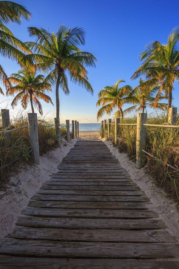 Key West encalha fotografia de stock