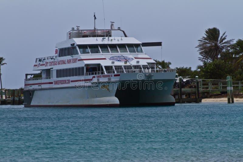 Key West Ferry em Tortugas seco fotos de stock