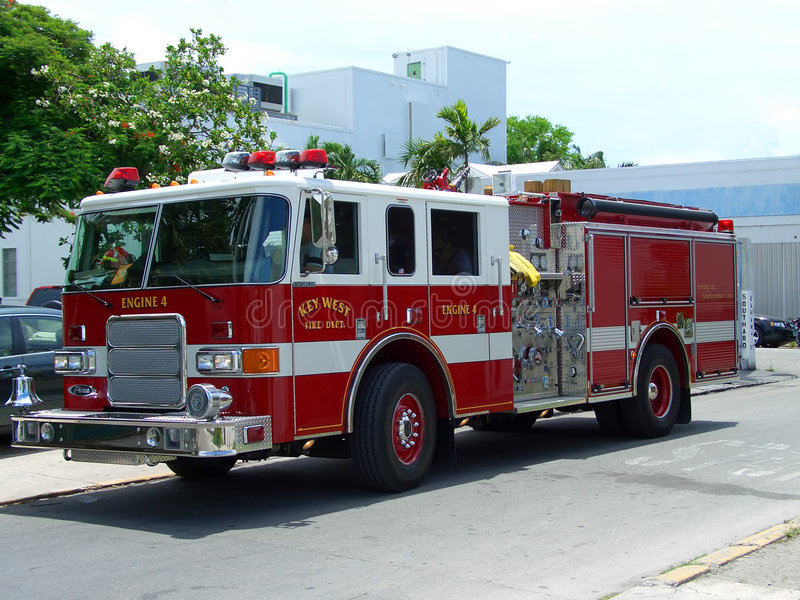 Key West fire brigade truck stock photography