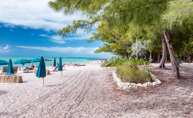 KEY WEST, FL - ФЕВРАЛЬ 2016: Береговая линия PA положения Zachary форта стоковая фотография rf