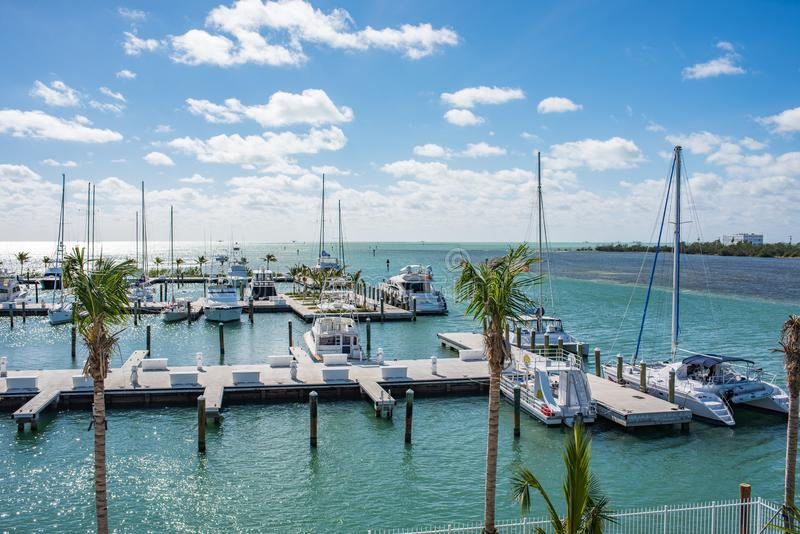 Boats parked in Key West, Florida. Key West, Florida: December 10, 2017: Boats parked in the Key West area of Florida. Key West is a popular tourist destination stock photos