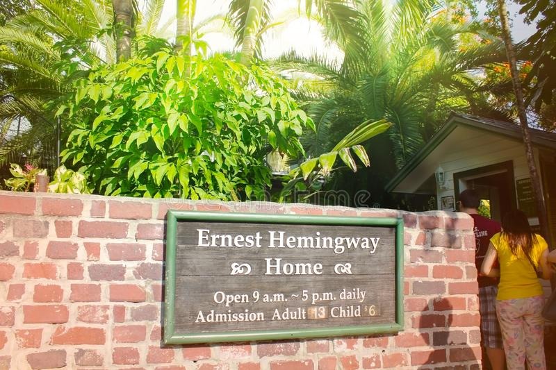 Download Key West, Florida, USA   January 6, 2014: Memorial Plate On