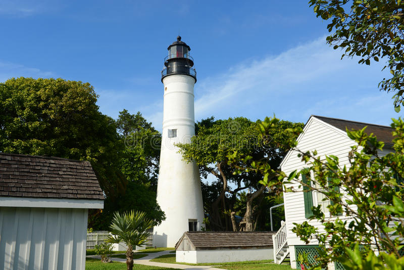 Key West fyr, Key West, Florida fotografering för bildbyråer