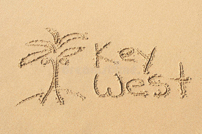 Key West i sanden royaltyfri fotografi