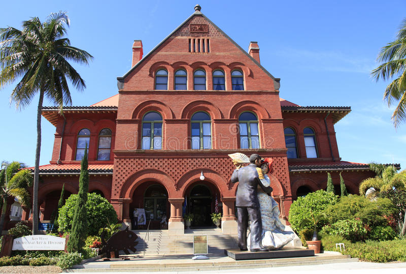 Key West konstmuseum och historia i Key West royaltyfri foto