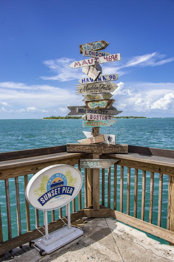 Key West landmark stock photo