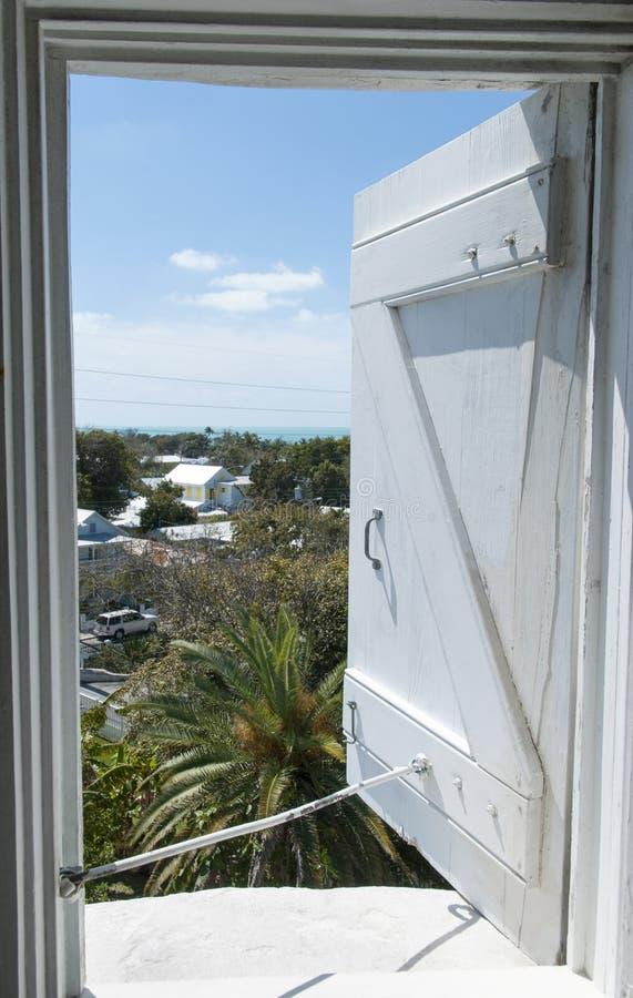 Key West latarni morskiej okno zdjęcie royalty free