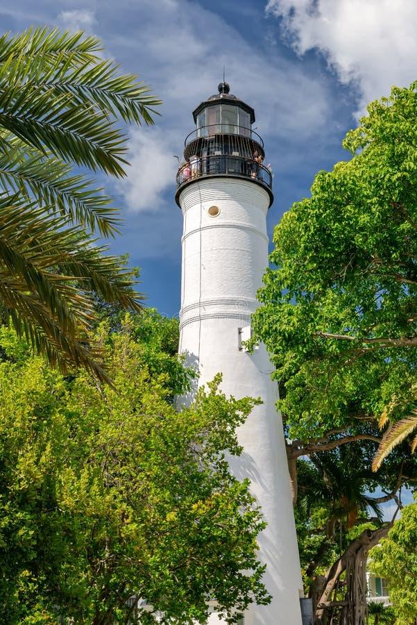 The Key West Lighthouse, Florida Keys, Florida. USA royalty free stock photography