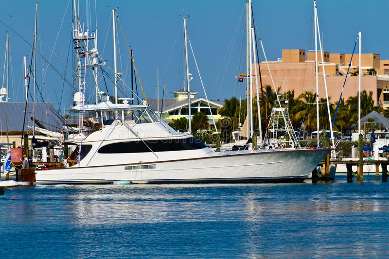 Key West Marina Yatch stock image