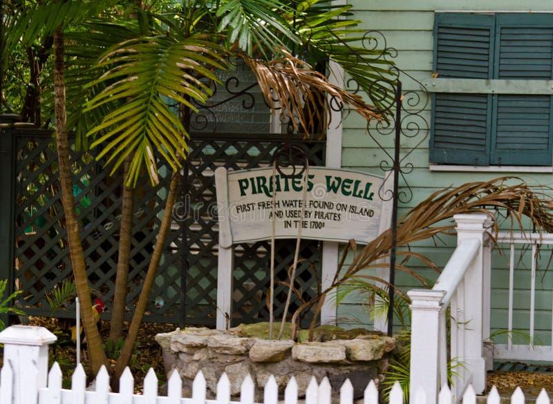 Key West pirateia bem foto de stock
