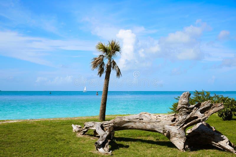 Key West sätter på land fortet Zachary Taylor Park Florida arkivfoton