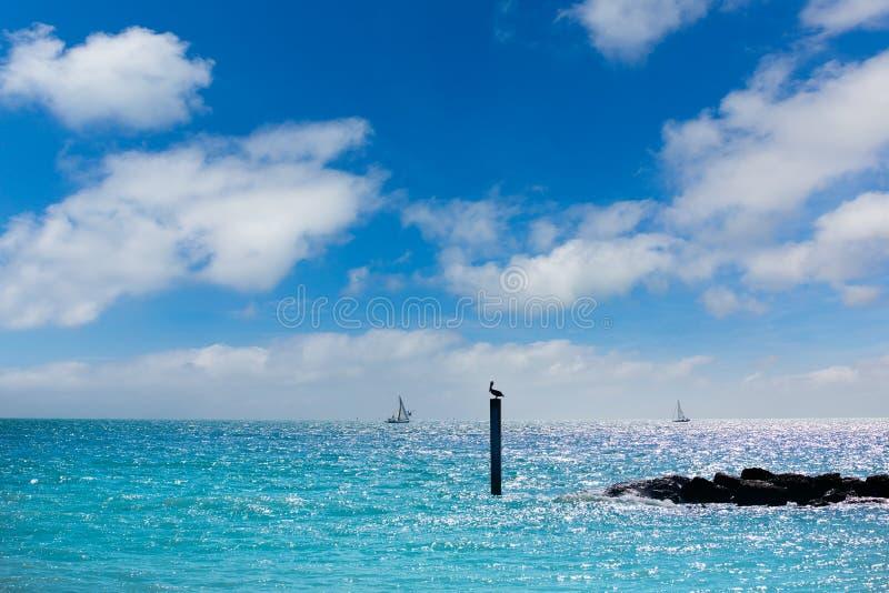 Key West sätter på land fortet Zachary Taylor Park Florida arkivbilder