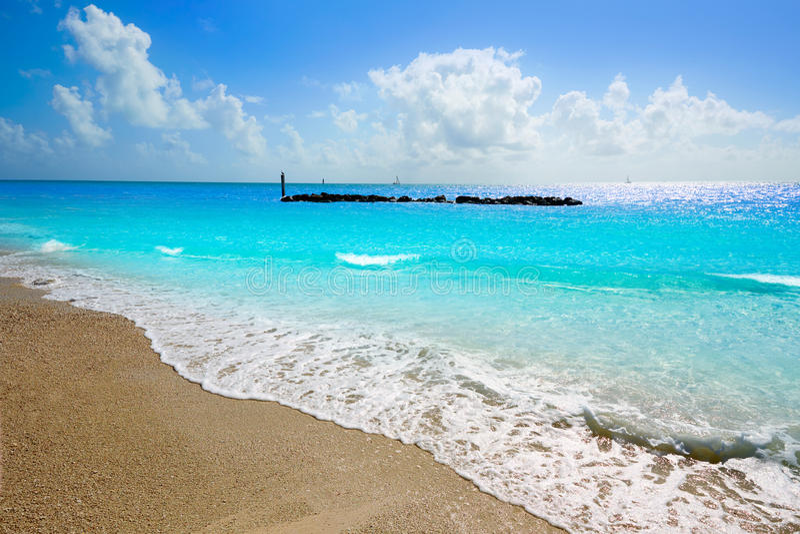 Key West sätter på land fortet Zachary Taylor Park Florida royaltyfri fotografi