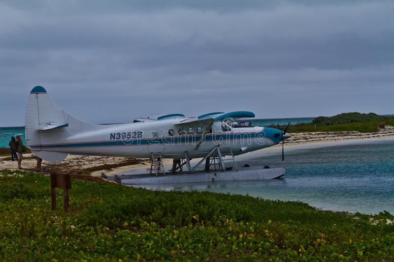 Key West Seaplane at Dry Tortugas royalty free stock photos