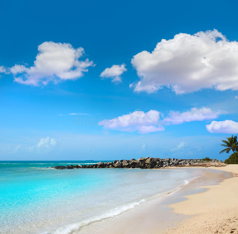 Key West setzen Fort Zachary Taylor Park Florida auf den Strand stockbild