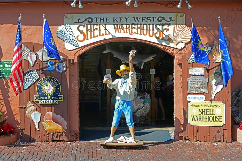 Key West Shell Warehouse, Florida, de V.S. stock foto's