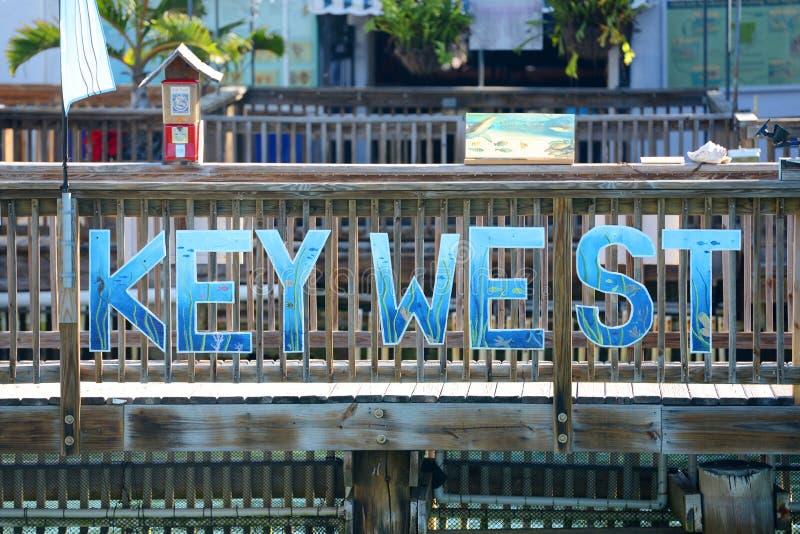Key West signent, la Floride image libre de droits