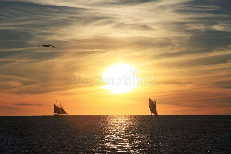 Key West-Sonnenuntergang - Florida - USA stockfoto