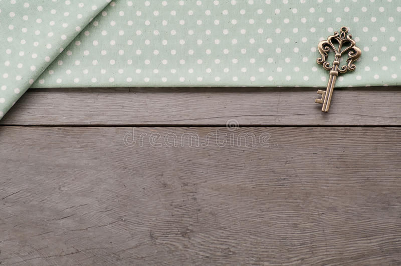 Key on wood textured background stock images