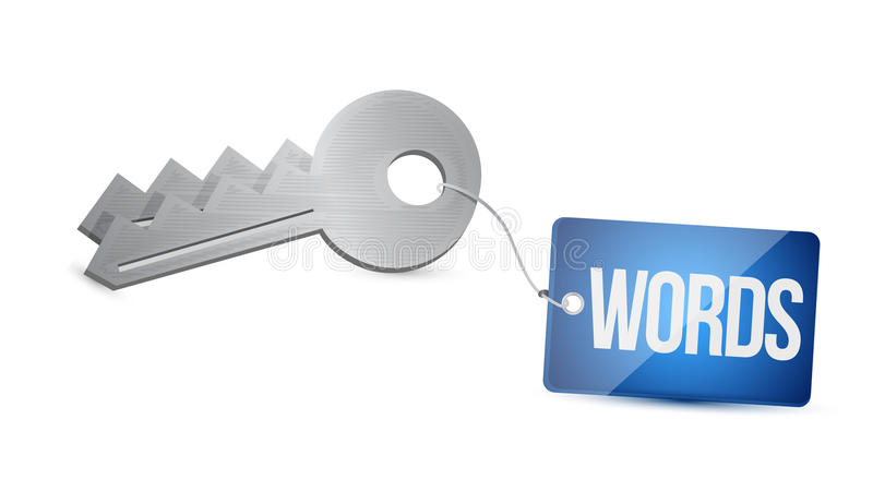 Key words. key concept illustration design. Over a white background royalty free stock image