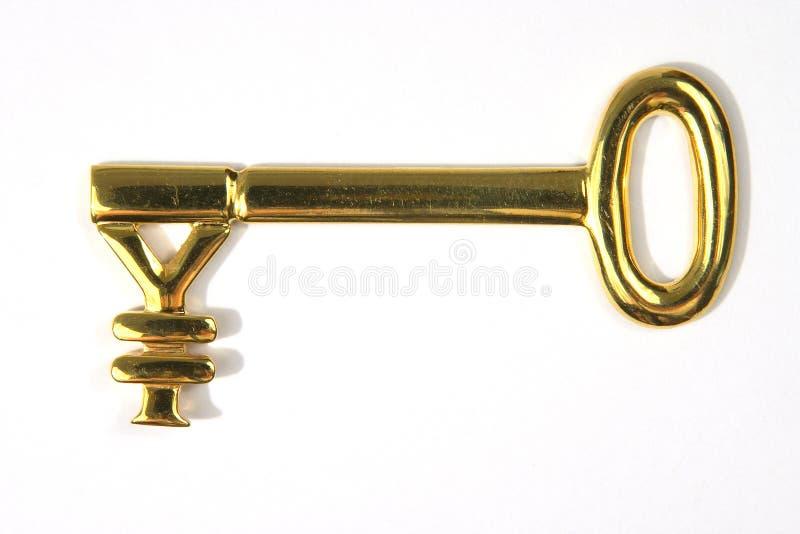 key yen för guld royaltyfri foto
