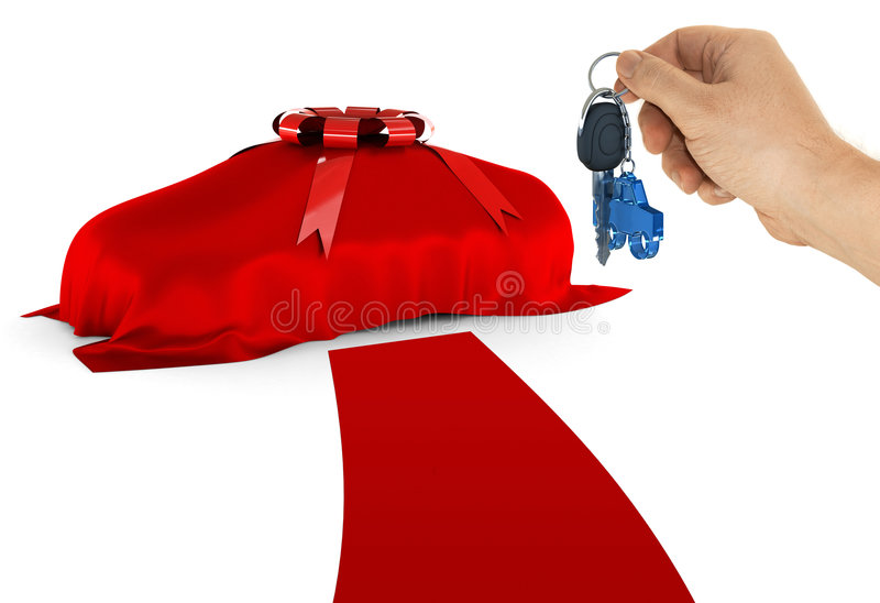 The Key Of Your Dream Car Stock Photography