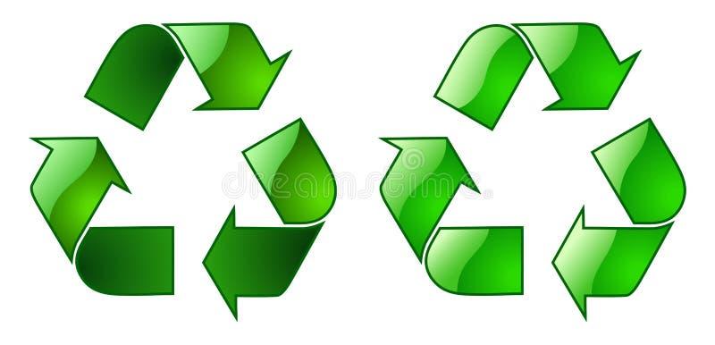 Keyable Recycling Symbol stock illustration