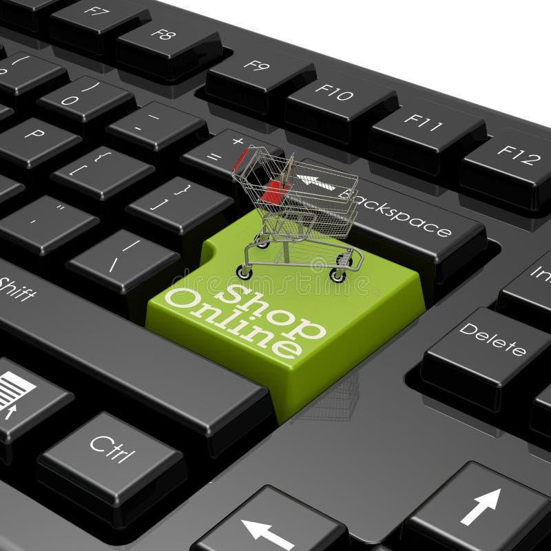 Keyboad en línea del ordenador de la tienda libre illustration