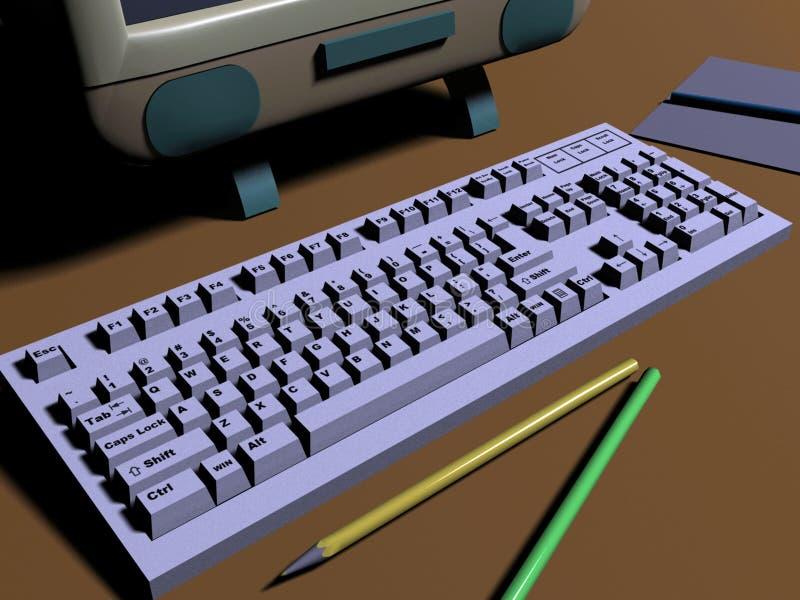 Download Keyboard stock illustration. Image of grey, object, laptop - 18115824