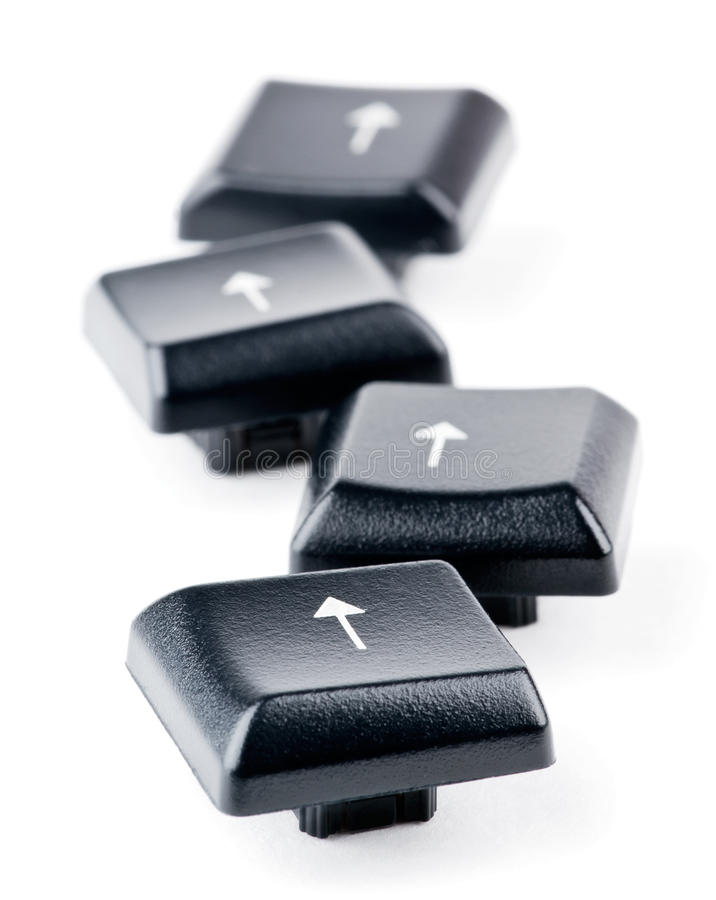 Keyboard arrow keys. On white background stock photography