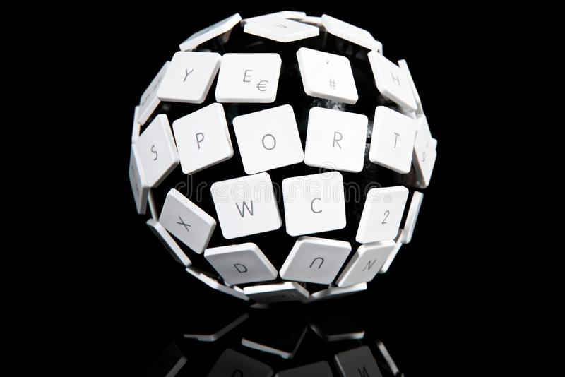 Keyboard Ball Concept. ESport Concept on black Background stock image
