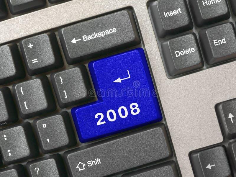 Keyboard - blue key 2008 stock photo