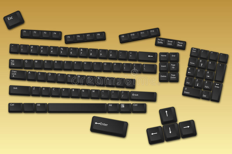 Keyboard Buttons Royalty Free Stock Photography