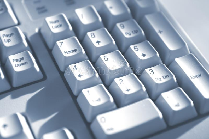 Keyboard buttons blue tone stock images