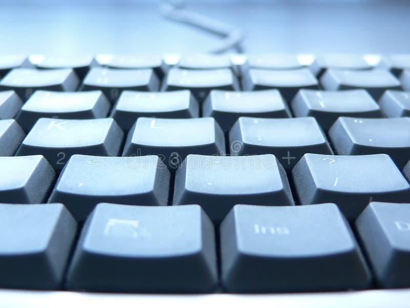 Keyboard closeup. PC keyboard closeup view stock photography