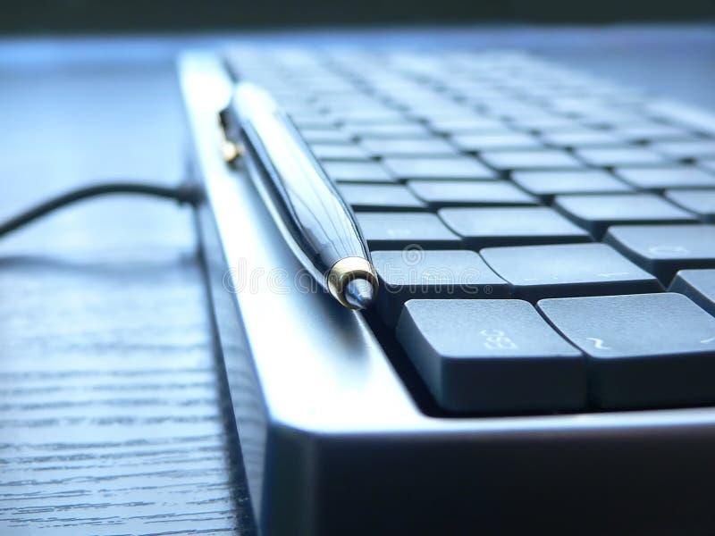 Keyboard closeup. PC keyboard closeup view royalty free stock image